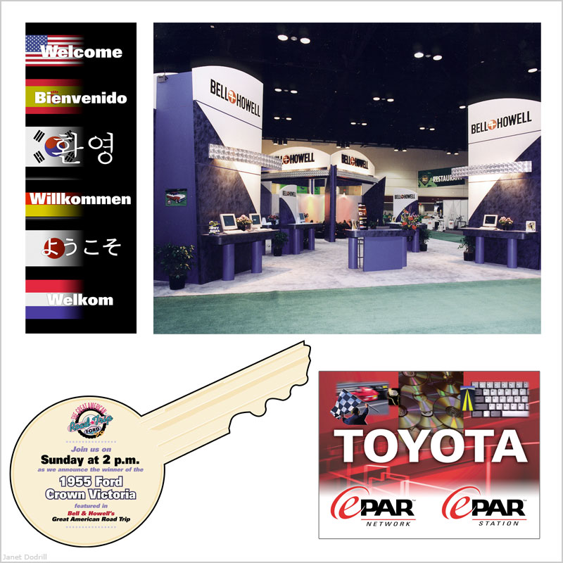 Bell & Howell Publishing Services / ProQuest – Display Panels for NADA, Booth Design Input