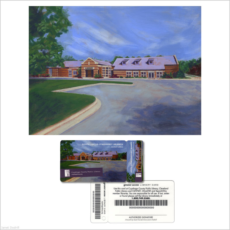 Janet Dodrill – South Euclid-Lyndhurst Branch Grand Opening Commemorative Library Card
